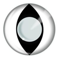 White Cat Eyes Halloween Contact Lenses