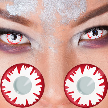 Crazy Halloween Contacts geo crazy halloween contact lenses cp f5 blue White Demon Contacts