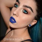 Aqua Glamour Contact Lenses Model Face