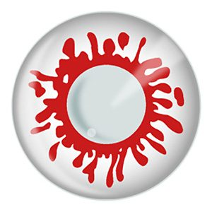 Blood Splat Halloween Contact Lenses