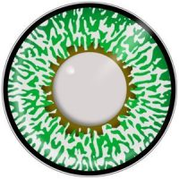 Green 3 Tone Contact Lenses for Brown Eyes