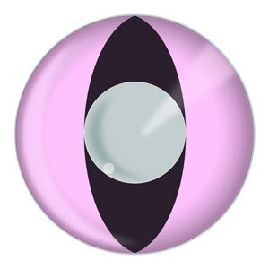 Pink Cat Eyes Cosplay Halloween Contact Lenses