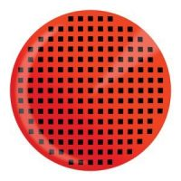 Red Mesh Halloween Contact Lenses