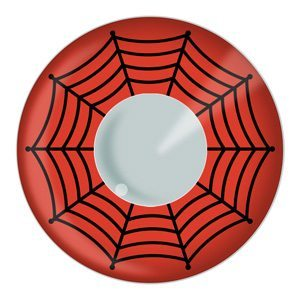 Red Spider Web Halloween Contact Lenses