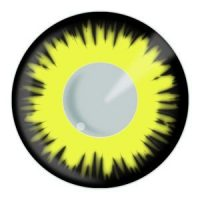 Yellow Solar Eclipse Halloween Contact Lenses