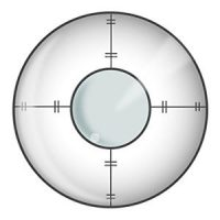 Target Crosshairs Halloween Contact Lenses
