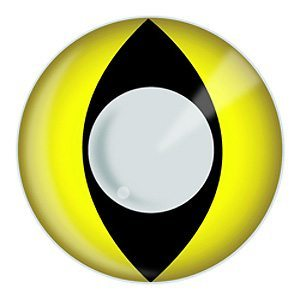 Yellow Cats Eye Halloween Contact Lenses
