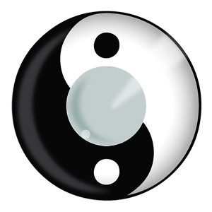 Yin Yang Halloween Contact Lenses