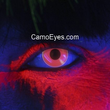 83002 glow in the dar uv dark red contact lenses