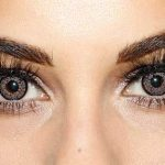 Grey Contact Lenses on Girls Face