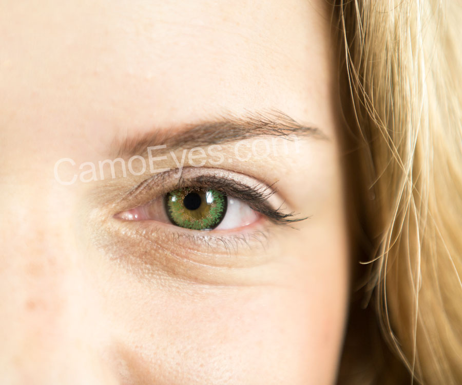 a457f82638 Green 3 Tone Contact Lenses for Brown Eyes · Green ...
