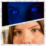 Blue UV Glow Contact Lenses Non-Prescription