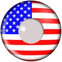 American Flag Contact Lenses Product Photo