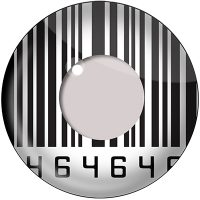 Barcode Contact Lenses Product Photo