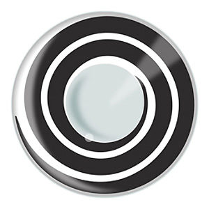 Black and White Spiral Contacts Product Photo