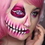 Enchanted Pink Contacts In-Use Product Photo