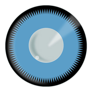 Saw Blue Contacts Product Photo