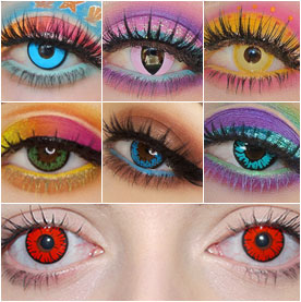 Colored Contact Lenses Collage