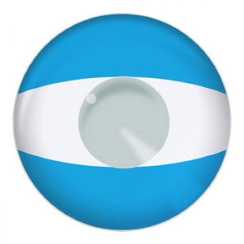 Argentina Flag Contact Lenses Product Photo
