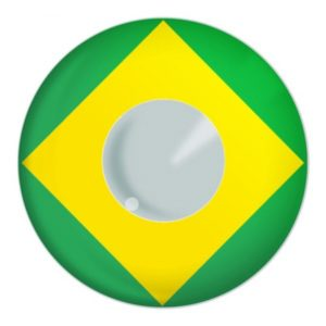 Brazil Flag Contact Lenses Product Photo