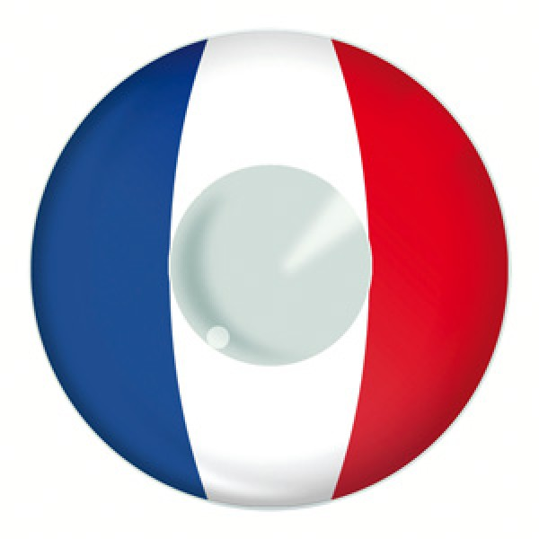 French Flag Contact Lenses Product Photo