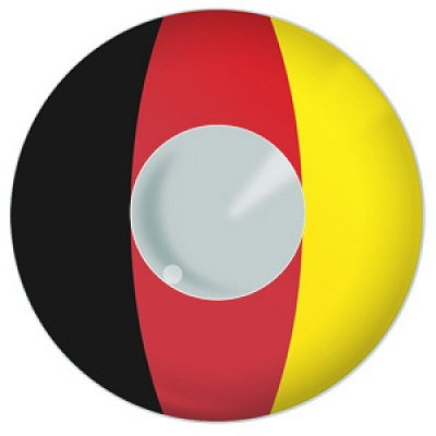 German Flag Contact Lenses Product Photo