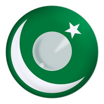 Pakistan Flag Contact Lenses