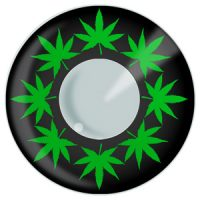 Marijuana Contacts, Pot Lead Contact Lenses Product Photo