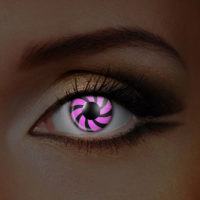 Pink Optical Illusion Contact Lenses Product Photo