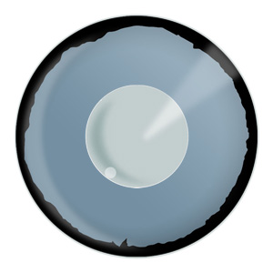 Grey Zombie Eye Contacts Product Photo