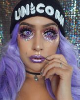 Enchanted Pink Contacts Model